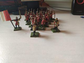 Arqueros bretones y grupo de mando
