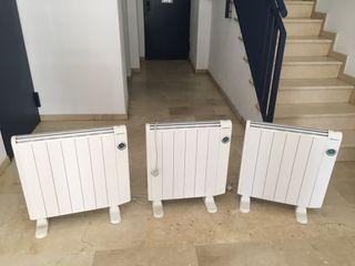 Radiadores eléctricos de calor azul impecables!!
