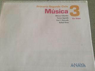 Libro Música 3° Primaria ed ANAYA