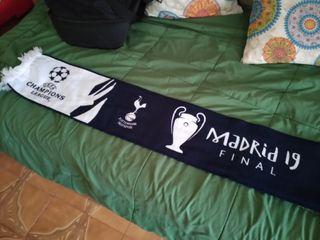 Bufanda Tottenham Liverpool final Champions Madrid