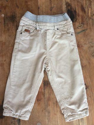 Pantalon niño de pana acolchado de 12-18m