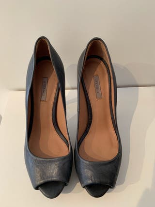 Zapato tacón azul