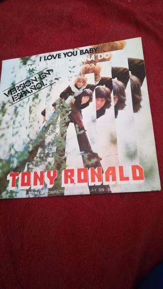 Antiguo vinilo de Tony Ronald