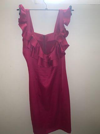 Vestido corto fiesta volantes estilo flamenco