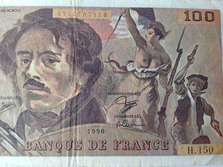 """BILLET FRANCIA """"LA LIBERTAD GUIANDO AL PUEBLO,1990"""
