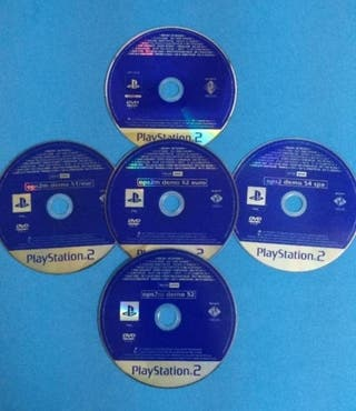 Lote de 5 Demos Playstation 2 (ps2)