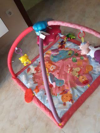 Manta y gimnasio cantarin 2 en 1 rosa