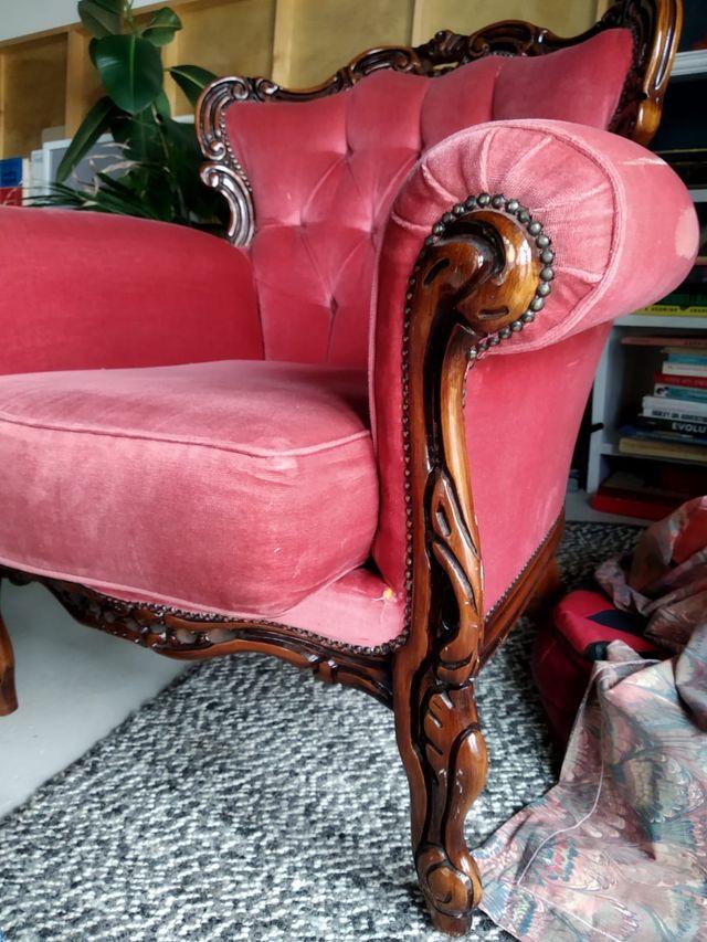 Classic armchair sofa