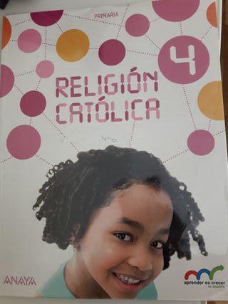Libro Religión Católica 4°primaria Anaya