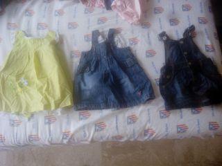 lote vestidos 9-12 meses