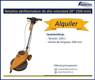 Alquiler rotativa abrillantadora de alta velocidad