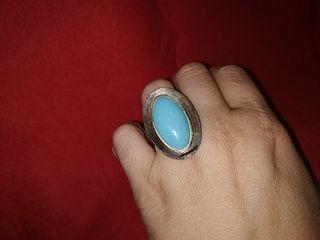 anillo vintage años 60 plata de 800