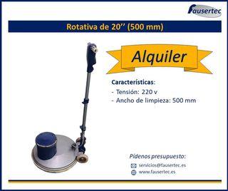 Alquiler rotativa abrillantadora 20 pulgadas