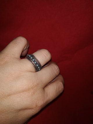 anillo filigrana y turquesas años 60