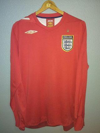 Camiseta England 2006 Umbro Manga Larga