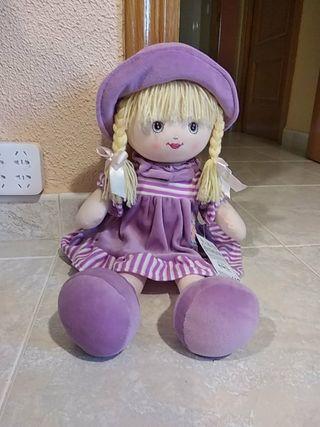 Muñeca de trapo rubia SIN ESTRENAR