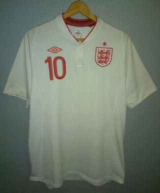 2º Camiseta England 2012 Umbro Rooney #10