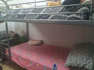 cama litera + dos colchones