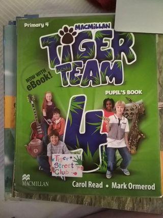 Tiger team cuarto de primaria inglés