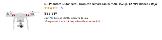 Dron Phantom 3 con extras