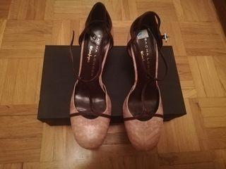 zapato Bicolor, Corte Inglés, T38 C, tacón 9'5 cm