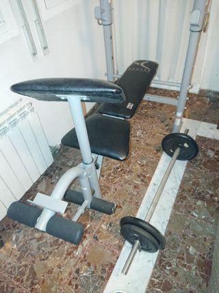 banco gimnasio pesas incluidos