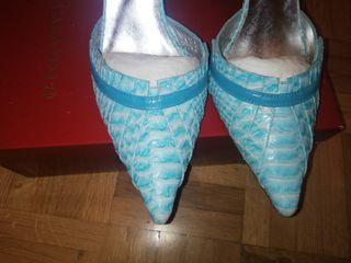 zapatos Caramelo T38, tacón 9cm