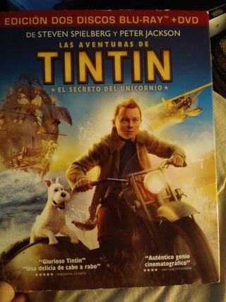 Tintin Bluray + Dvd + Extras