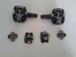 Pedales automáticos Shimano M520 + Calas