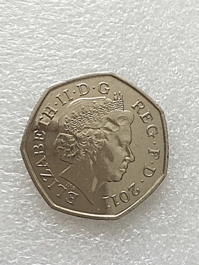 50p coin judo Olympic Games London 2011.