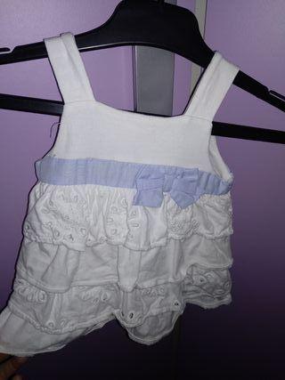 2 vestidos de bebé talla 60cm