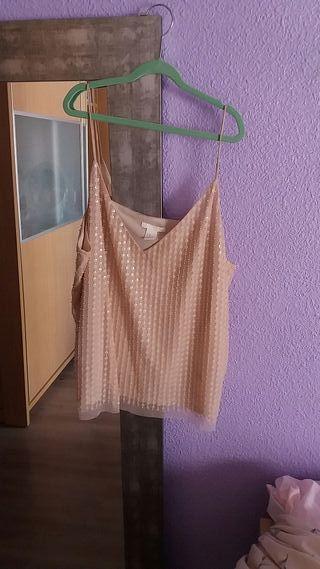 2b47f714b3c Blusa de fiesta talla grande de segunda mano en WALLAPOP
