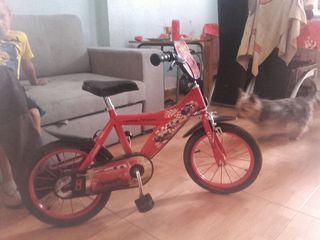 bicicleta infantil cars disney