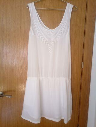 BERENICE Vestido blanco plata verano