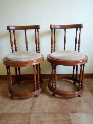 Lote de 2 sillas descalzadoras vintage