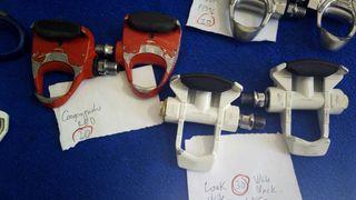 pedales automaticos Look,Campagnolo.