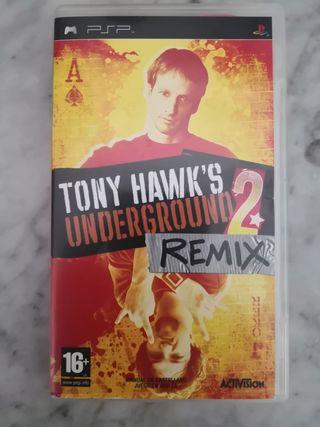 PSP juego Tony Hawks underground 2 remix