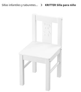 2 Sillas infantiles Kritter de Ikea
