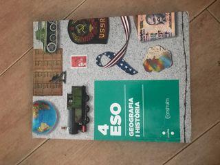 Libro de geografía y historia en catalán maristas