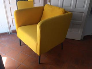 Sillón amarillo IKEA EKERO