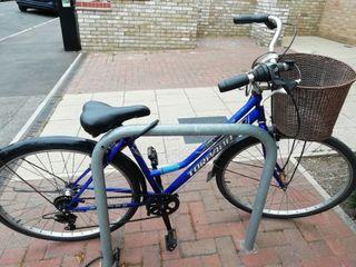 Bike with lock and lights