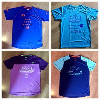 LOTE 5 camisetas RUNNING
