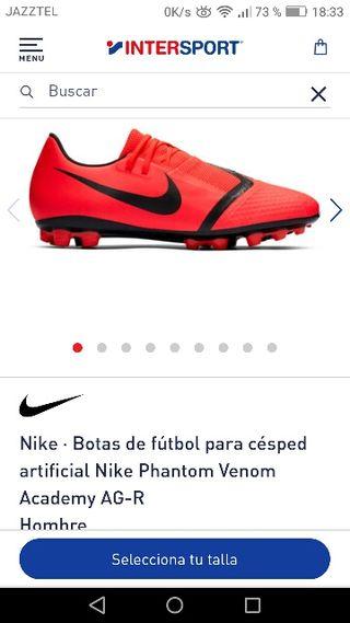 Botas de fútbol de hombre Phantom Venom Academy AG R Nike