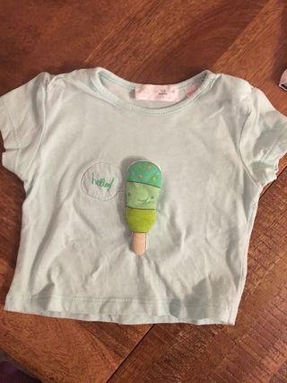 Camiseta manga corta bebé Zara 1-3 meses