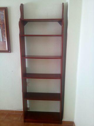 Estantería de 6 estantes de madera 70,5x23x212cm