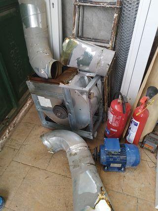 Extractor para campana industrial de cocina