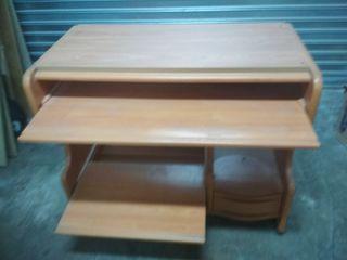 Mesa de ordenador con mesa y balda extraibles