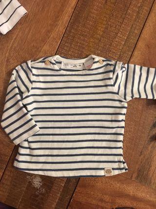 Camiseta manga larga Zara 1 a 3 meses