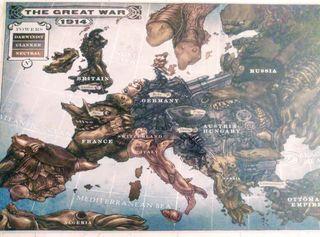 Cartón de Guerra mundial Europea.