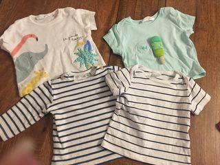 Lote camisetas bebé 1 a 3 meses Zara